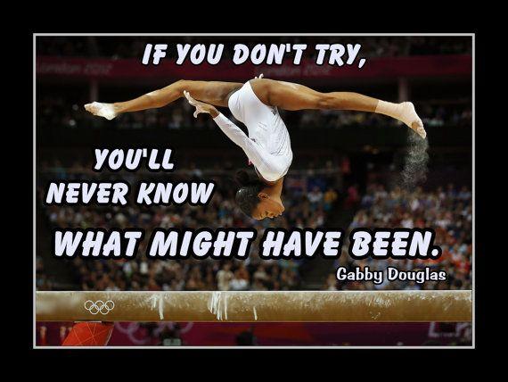Gymnastics Poster Gabby Douglas Champion Gymnast Photo by ArleyArt
