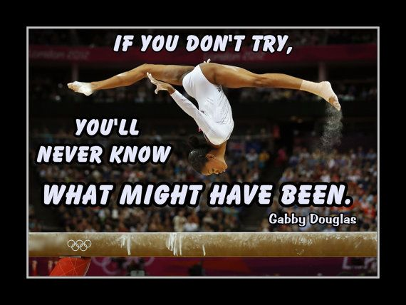 Gymnastics Poster Gabby Douglas Champion Gymnast Photo by ArleyArt