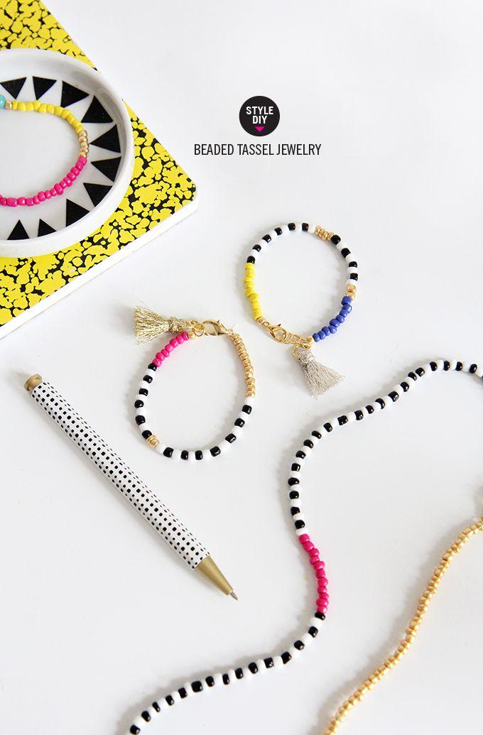 MY DIY | Beaded Tassel Jewelry | I SPY DIY