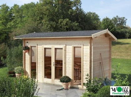 Fancy Gartenhaus xcm Holzhaus Bausatz mit gro er Fensterfront Satteldach