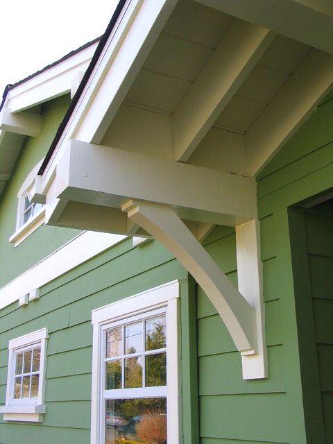 Portico brace 1 bump out pinterest porticos and braces for Craftsman corbels exterior