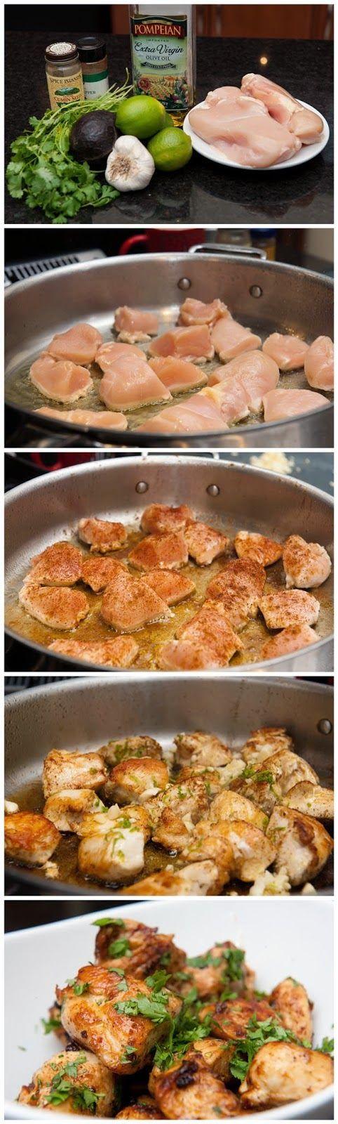 Pollo con lima y cilantro