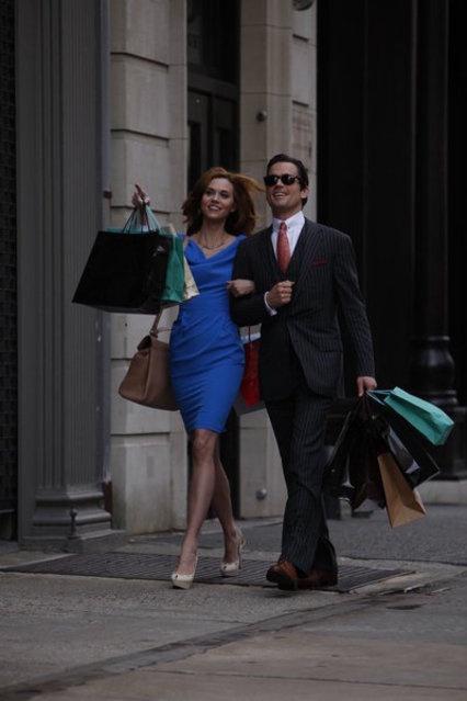 Neal and Sara from White Collar. I love Hilarie Burton and Matt Bomer. They are both stunning.
