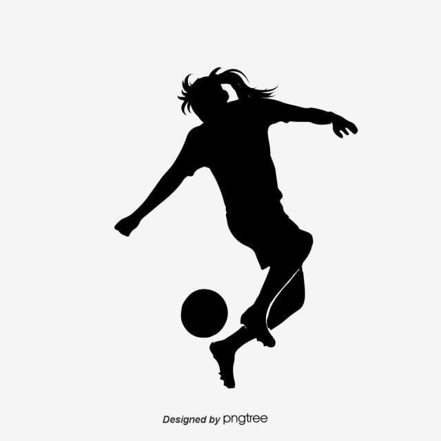صورة ظلية مرسومة باليد لاعبي كرة القدم من النساء لعب كرة القدم المرسومة كرة القدم حرف Png وملف Psd للتحميل مجانا In 2021 Logo Silhouette Woman Silhouette Womens Football
