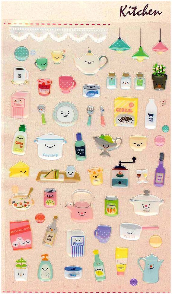 17 best stickers images on pinterest stickers kawaii for Korean style kitchen design