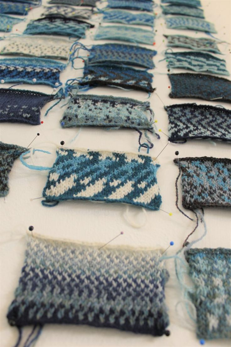 Colour Work | Celia Pym blue detail