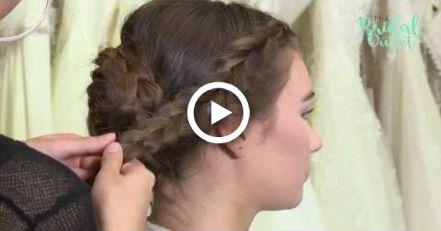 Boho Hochzeitsfrisur mit Haardraht – Weddings!