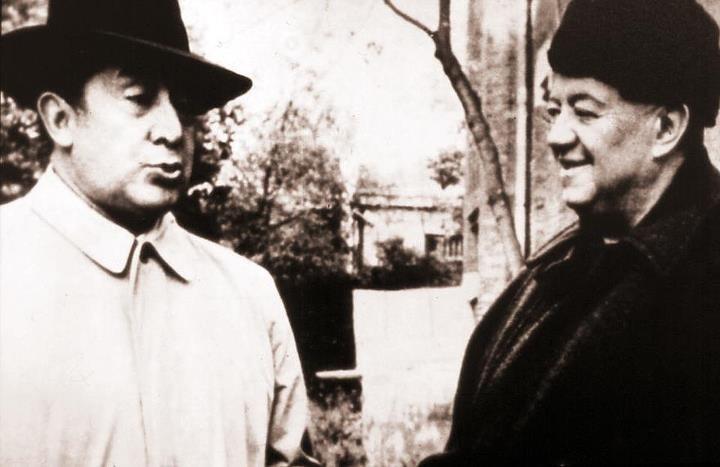 David Alfaro Siqueiros & Diego Rivera (Moscow, 1955)... Artists, communists, enemies at times