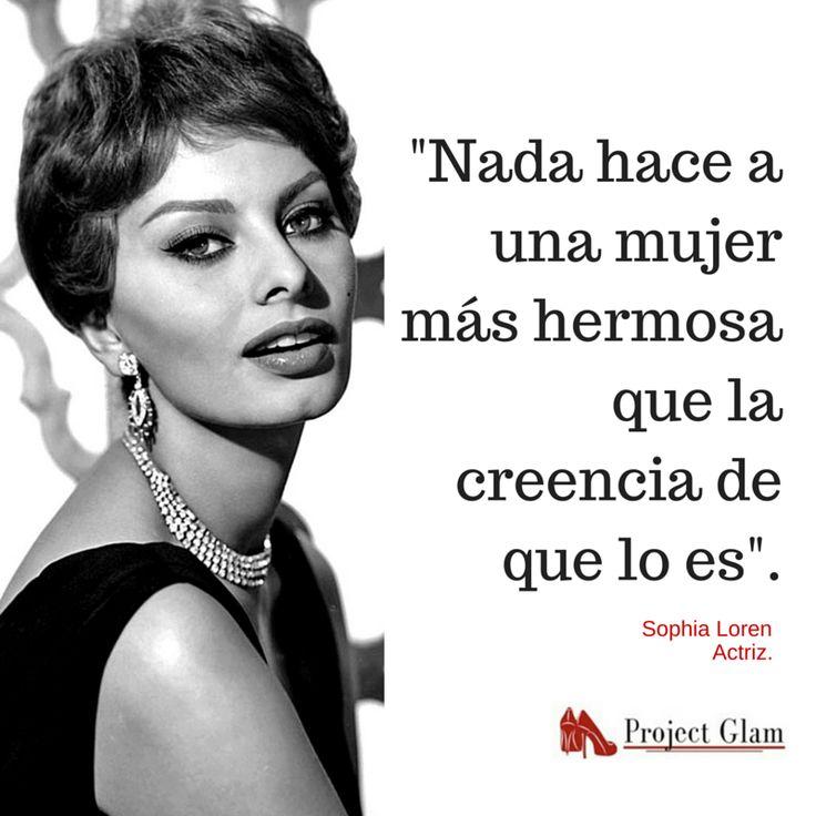 Acertartada frase de Sophia Loren