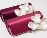 Wine and pink clutches