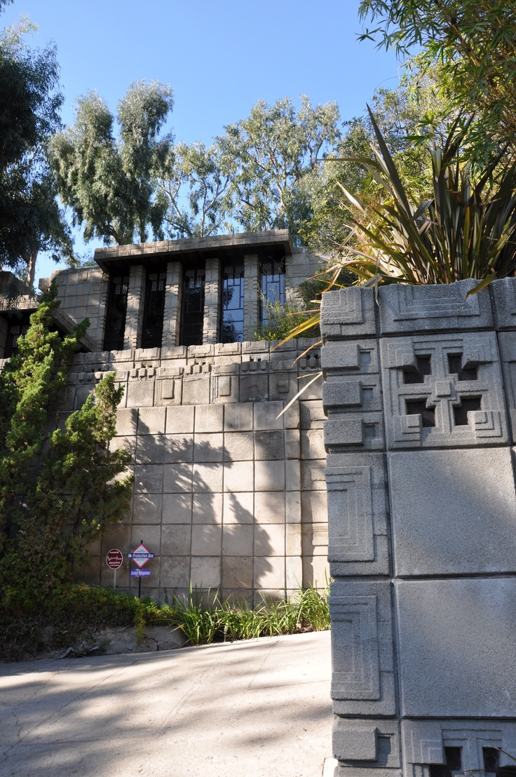 Storer House. 1923. Hollywood Hills. Textile Block Period. Frank Lloyd Wright.