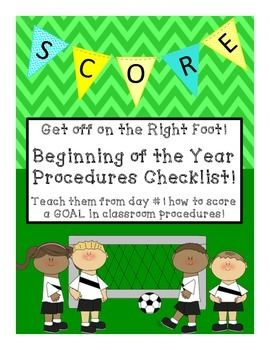 Get Off on the Right Foot this year with theTeaching Procedures Checklist!It consists of over 125 school procedures written as questions to ask the kids to help teacher every procedure for a safe and successful year!It covers all of the following:* Early Bird/ Morning Procedures* Classroom* Lunchroom/breakfast* Library* Recess* Reading Groups* Centers* Restroom* Hallway* Art* PE* Computer* DismissalOne of the most important things we do is teach procedures.