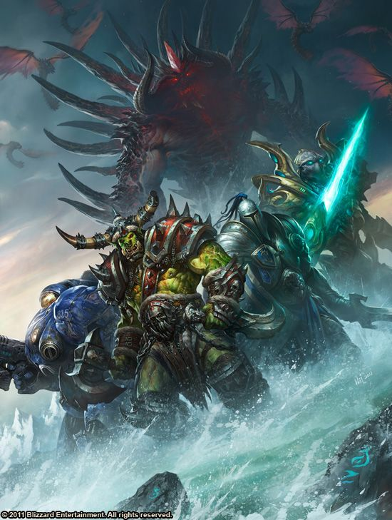 Art of Blizzard - Wei Wang, Sons of the Storm; for the cover of the upcoming Art of Blizzard artbook, publishing in Jan 2013