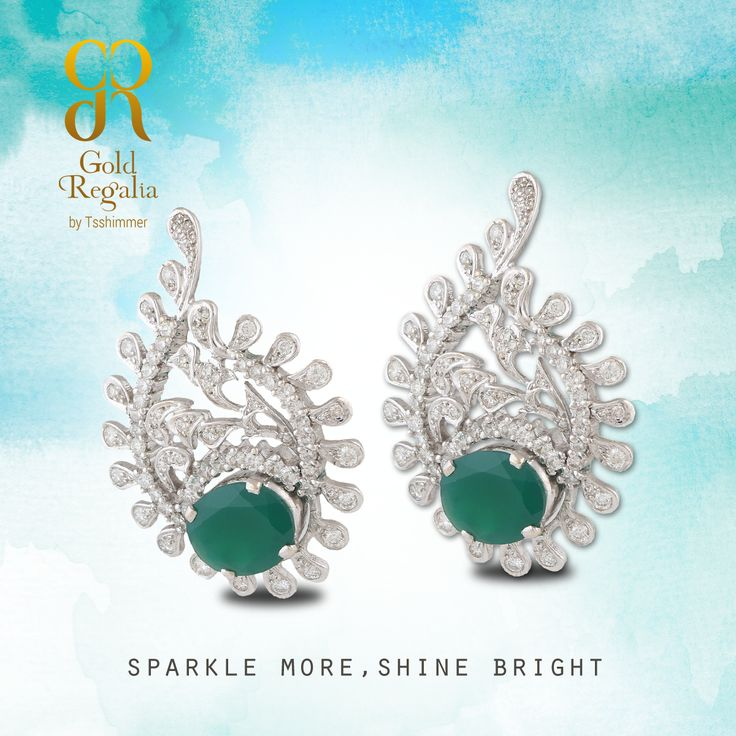 Sparkle more, shine bright.  : https://goo.gl/bwmrUd  #WomensJewelry #ClassyJewelry #DiamondJewelry #DiamondEarring #EarringsOnline