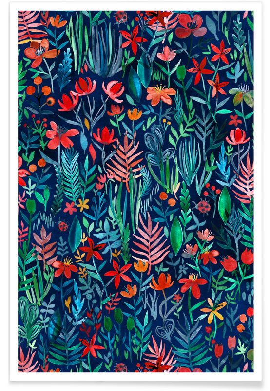 Tropical Ink als Premium Poster von Micklyn Le Feuvre | JUNIQE