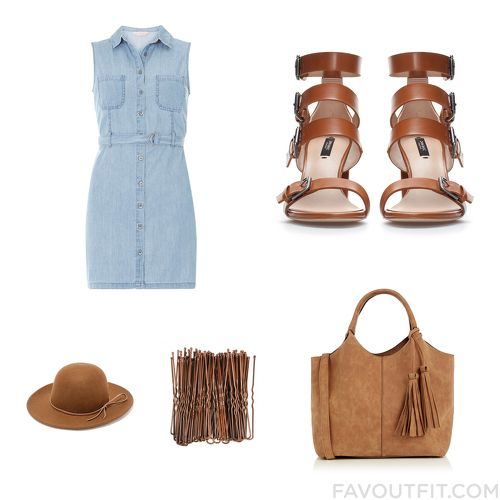 Closet Mix And Match With Dorothy Perkins Dress, Heeled Sandals, Oasis Tote Bag And Brown Hat From May 2016