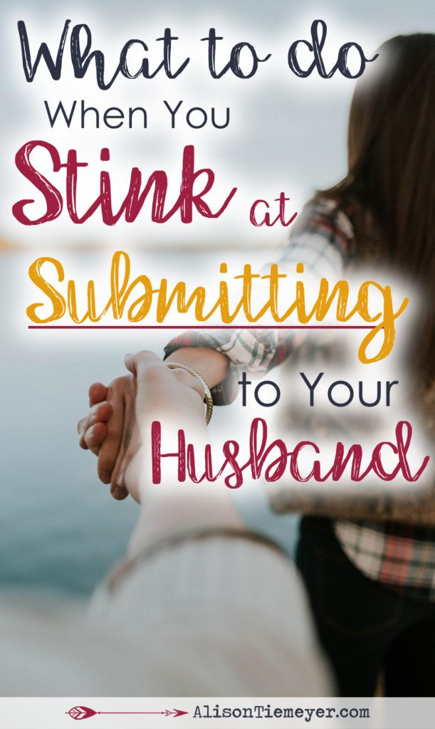 If you want to submit to your husband but find that you stink at it, you're not alone. As Christians, our marriages are meant to reflect the gospel to the world. But so often we get this wrong. So often we struggle to respect and honor our husbands as we should. Here is some encouragement to help you submit to your husband!