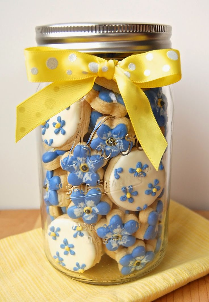 Much Kneaded: Alaska Forget-Me-Not Cookies in a Jar