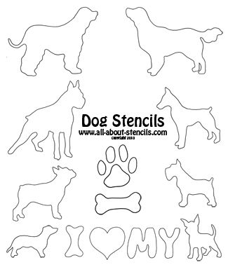 Dog Paw Print Stencil | like i always say if you want unconditional love get