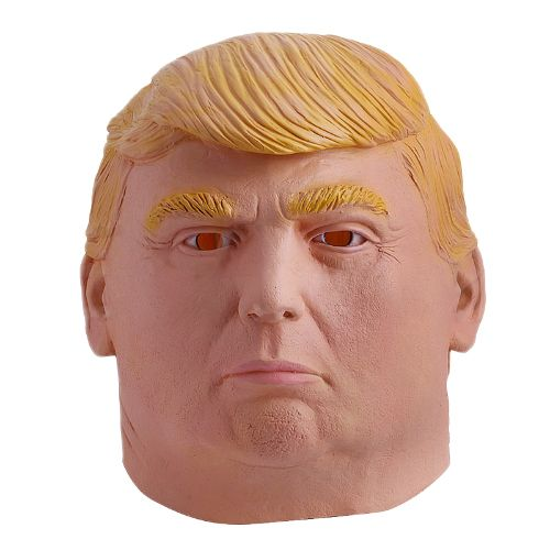 Love him or hate him? Doesn't matter... You can be him with this Donald Trump Halloween Mask! 😂