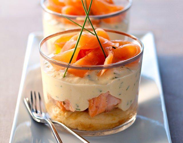 Découvrez la recette Tiramisu aux deux saumons et ciboulette sur Galbani, le site spécialisé dans les recettes italiennes
