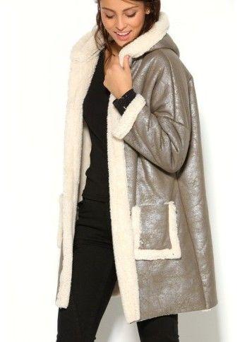 Třpytivý kabát s kapucí #ModinoCZ