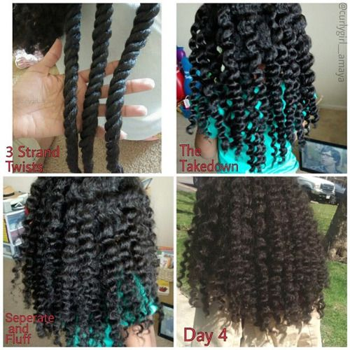 looks like 3 strand twists are poppin. do you use this method?