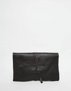 ASOS Leather Tie Clutch Bag