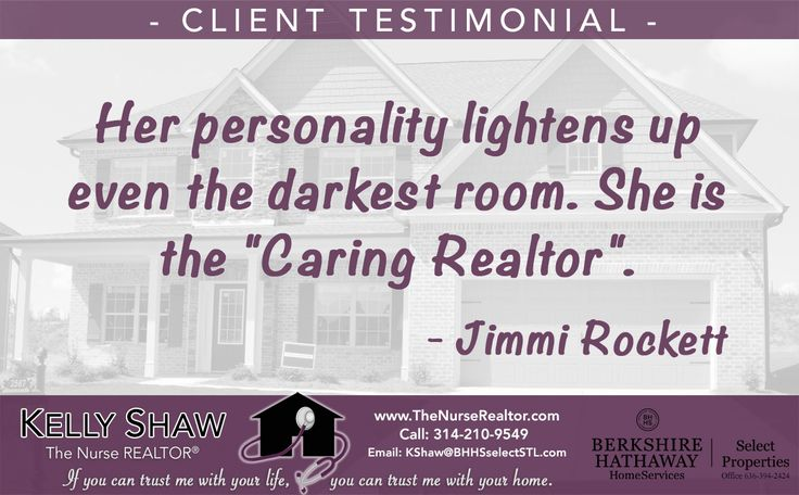 Another happy St. Louis real estate client with great things to say about working with Kelly Shaw.