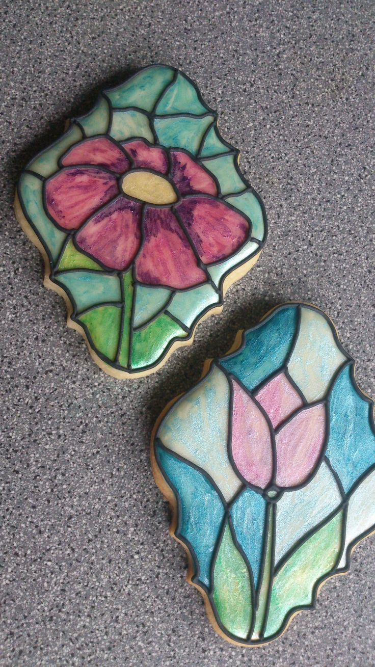 "sugar cookies ""mosaic glass"""