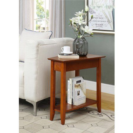 Convenience Concepts American Heritage Wedge End Table, Red