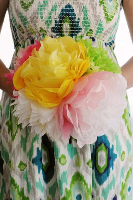Rust & Sunshine: Tissue Paper Flowers . . . . these ones are made from tissue paper, but crepe would work just as nicely