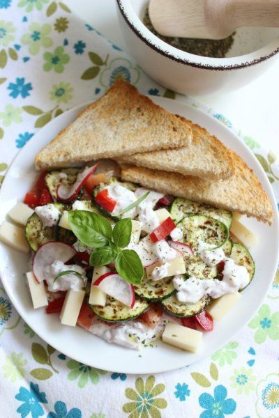 grillezett cukkini saláta