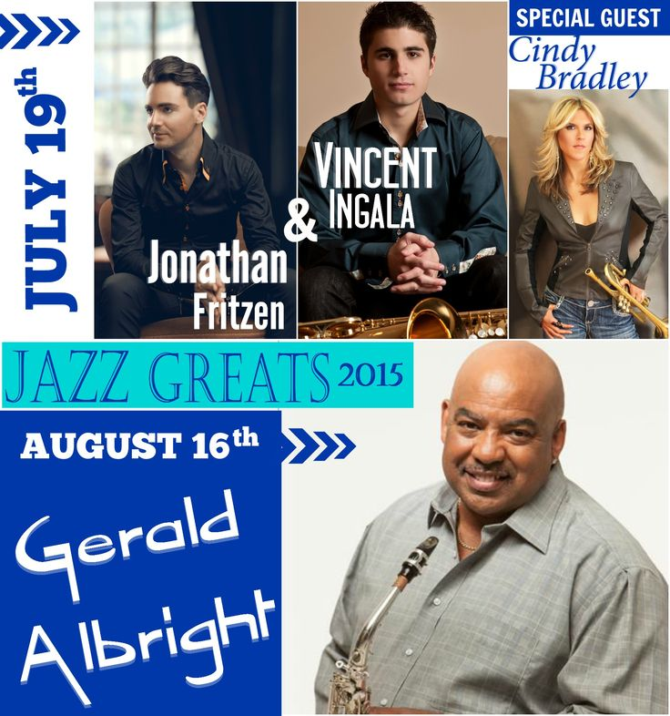 The time has come! We're thrilled to announce the artists for the 2015 Jazz Greats concerts... Joining us in July are keyboardist Jonathan Fritzen and saxophonist Vincent Ingala with special guest Cindy Bradley opening the show on the trumpet! Taking the Vineyard Stage in August is saxman Gerald Albright! Tickets go on sale Monday, May 4th. #jazzmusic #jazz #glenorawine #senecalake #fingerlakes