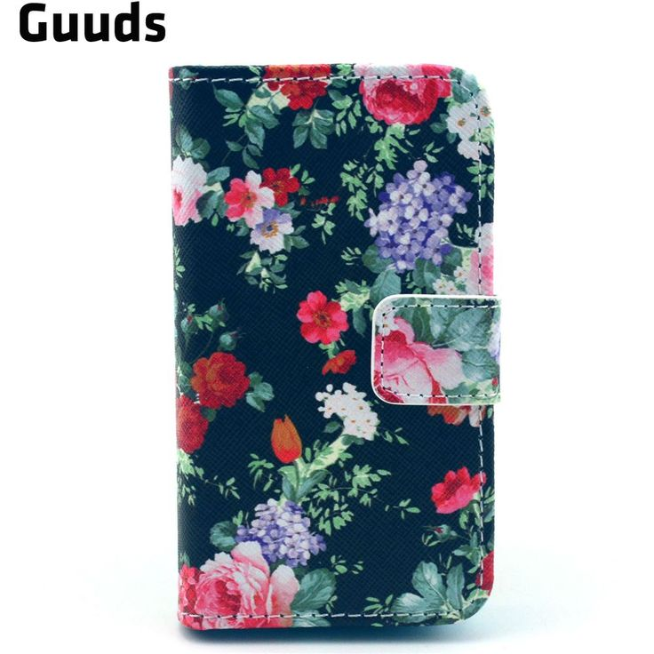 Garden Flowers Leather Flip Wallet Case Cover for iPhone 4s / for iPhone 4 FREE SHIPPING #Affiliate