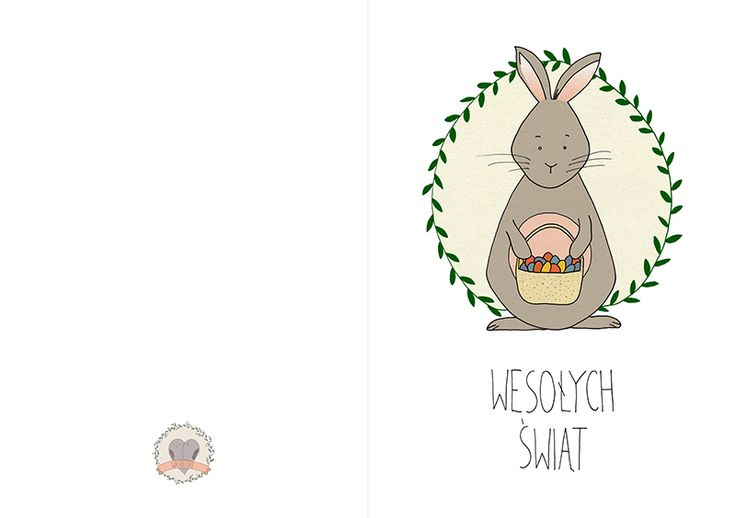 Wróblove | Skandynawski handmade, ilustracje na drewnie i fotografia zakochanych Łódź Warszawa: Darmowe kartki Wielkanocne do pobrania