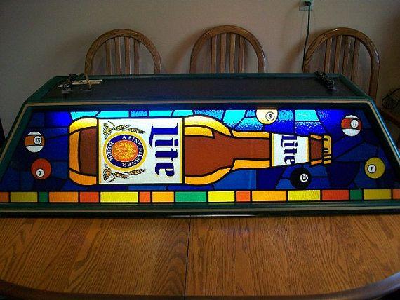 Miller High Life Vintage Pool Table Light