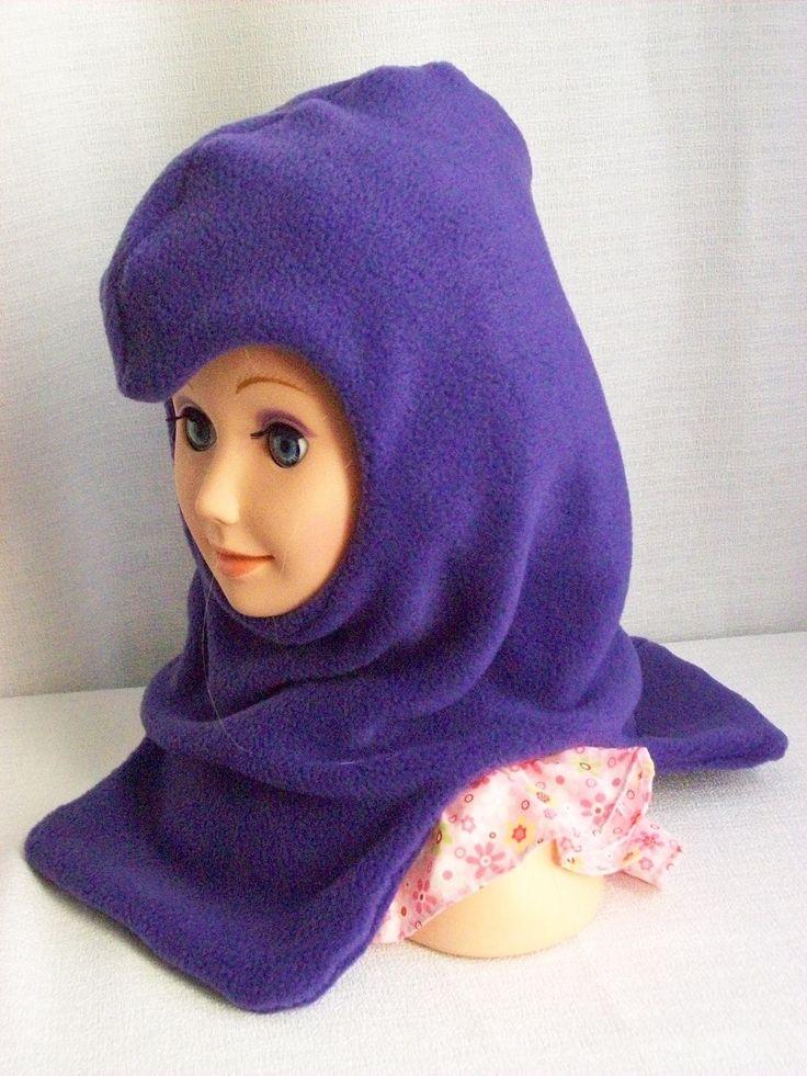 Purple balaclava - fleece ski masks