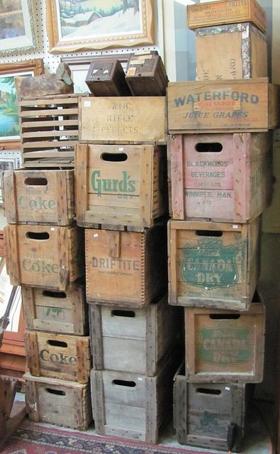 148 best images about old wooden boxes on pinterest for Uses for old wooden crates