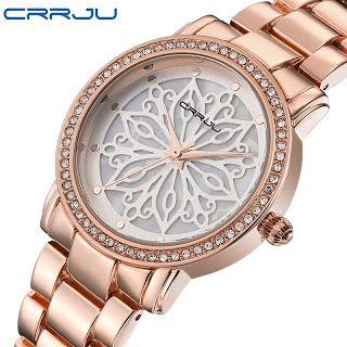 CRRJU luxury Dress Brand Fashion Watch Woman Ladies Rose gold Diamond relogio feminino Dress Clock female relojes mujer 2016 New (32738577262)  SEE MORE  #SuperDeals
