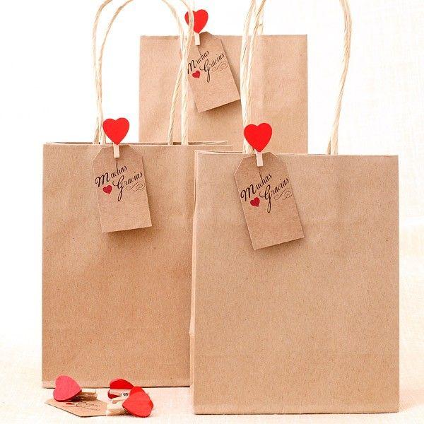 Comprar bolsas kraft con asa para regalos etiquetas - Cajas de madera para regalo ...
