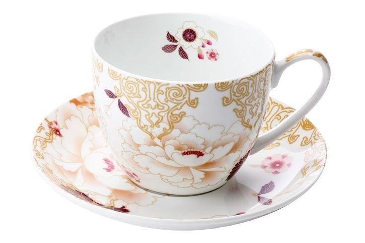 Чашка с блюдцем из костяного фарфора «Кимоно» (белый) в подарочной упаковке      Бренд: Maxwell & Williams (Австралия);   Страна производства: Китай;   Материал: костяной фарфор;   Объем чашки: 480 мл;          #bonechine #chine #diningset #teaset #костяной #фарфор #обеденный #сервиз #посуда  #обеденныйсервиз #чайныйсервиз #чайный  #чашка #кружка #набор #сервировка #cup #mug #set #serving #tea #чай