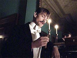 Hugh Dancy smoking. • Existing Characters Die Horribly