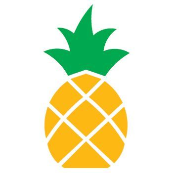 large pineapple stencil - Google Search