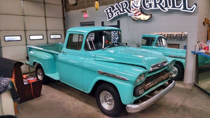Nice Awesome 1959 Chevrolet Other Pickups 3100 1958 Chevy Apache Truck Stepside Long bed Apache Updated SBC 305 Nice Interior 2018
