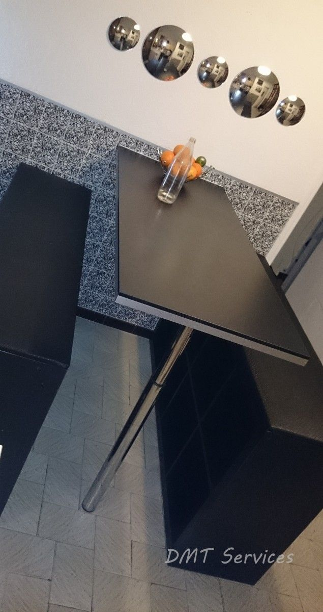Création de table haute et bancs  #expedit #ikea #tableàmanger