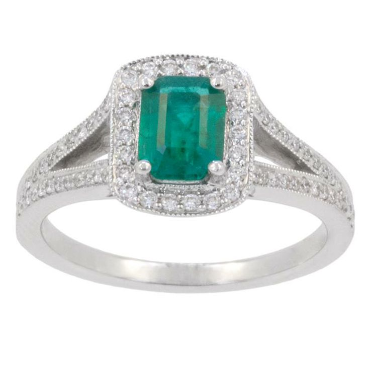 If a ring is more her style, this 18k ring features a 0.60ct emerald cut emerald. Surrounded by 0.26cts tw of diamonds, this ring is a celebration of her life and her timeless style. www.gembycarati.com www.facebook.com/gembycarati
