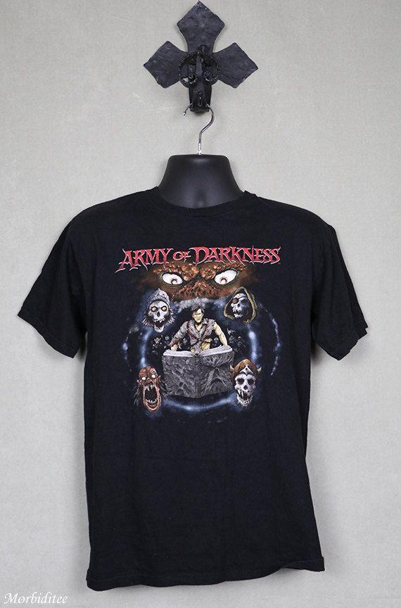 Army Of Darkness horror movie T-shirt, Mishka, Evil Dead, Zombie, Sam Raimi, Bruce Campbell, OOP