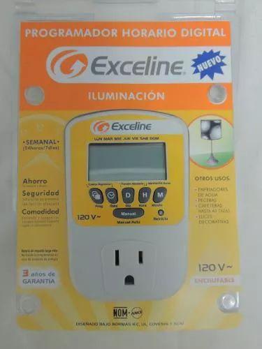 programador horario digital exceline gtc-e120h - iluminación