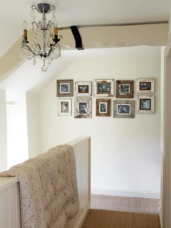 Renovating a cottage in Oxford   Period Living//  I LOVE the quilt on the banister!!